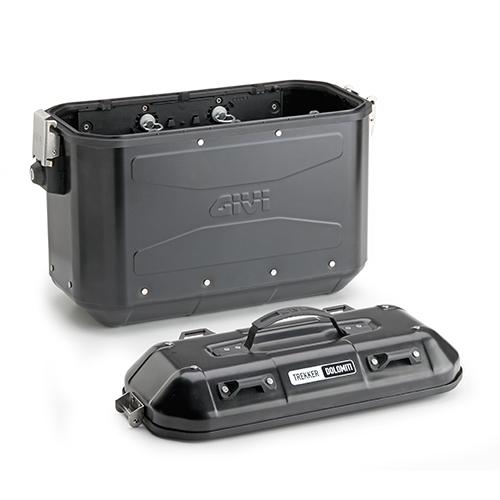 Givi - Valigie laterali  Retro Fit - DLM36B TREKKER DOLOMITI Black Line