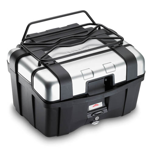 Givi - Metal rack (black), smaller than the E120, it uses the same holes and allows the opening of the case for TRK46 / TRK33