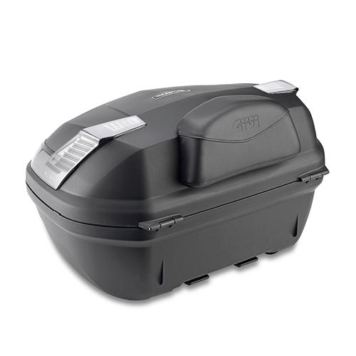 Givi - Beifahrer-Rückenlehne soft, überzogen mit Kunstleder, schwarz, mit GIVI Logo