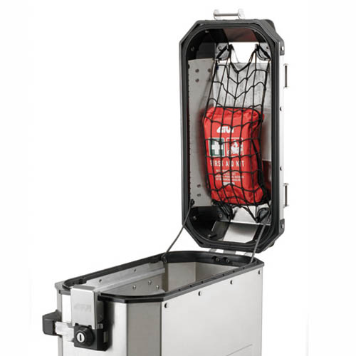 Givi - Elastic cargo net, anchorable to the hinges predisposed on the Trekker Outback lid, Trekker Dolomiti and Trekker Alaska