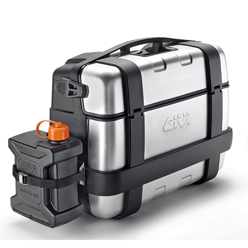 Givi - Soporte especifico, en acero inoxidable, para el montaje del depósito TAN01 en la maleta TRK33N, TRK33B, TRK46N, TRK46B.
