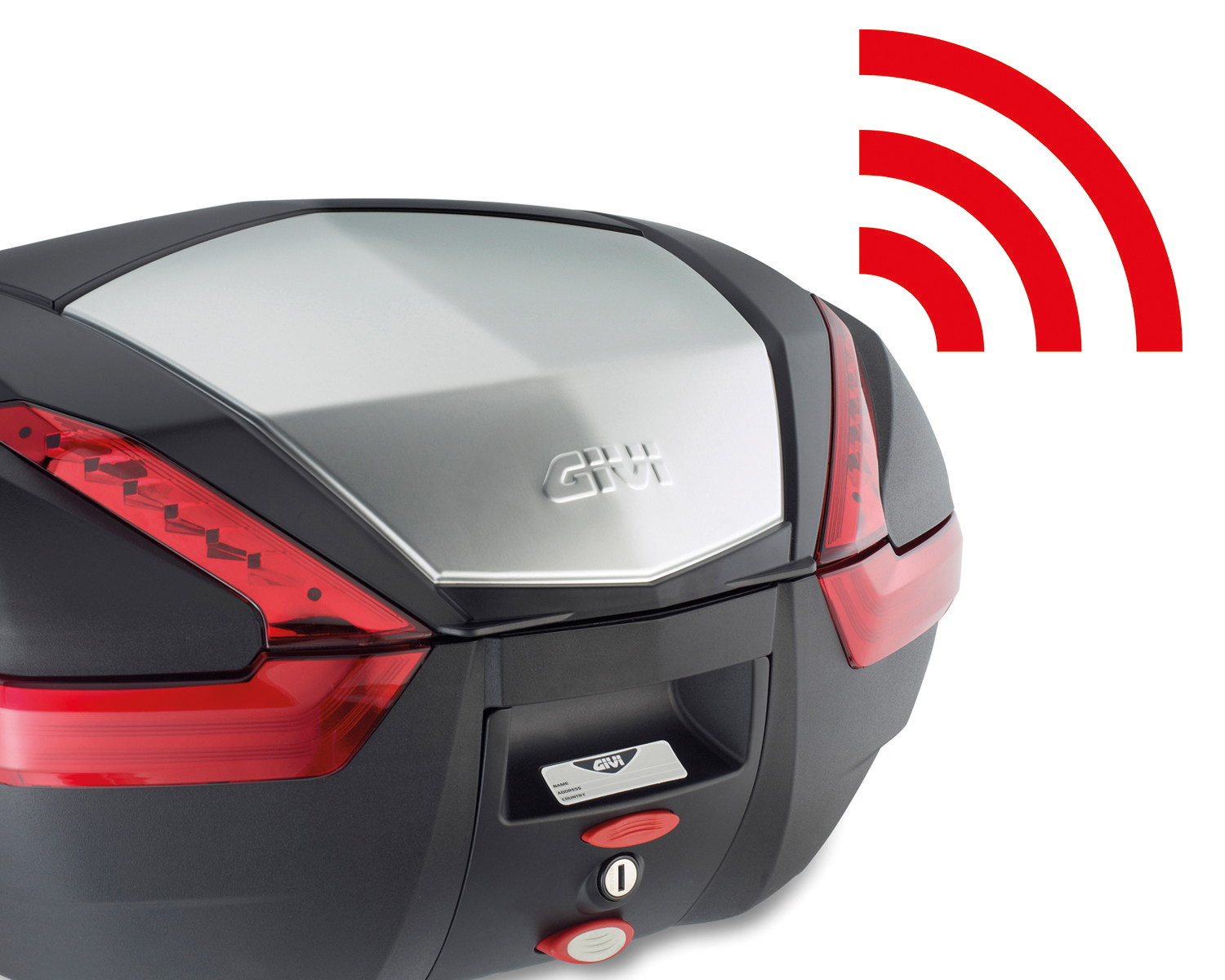 Givi - Opening kit Keyless 2.0 for V47, V40, B47 Blade, B37 Blade, B360 cases. It allows the opening of the case through an app to be installed on your device, downloadable from the App Store and Google Play.