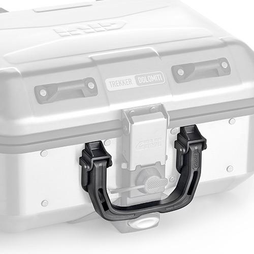 Givi - Manija universal para maletas en aluminio. Compatible con: OBKN58 Trekker Outback, OBKN42 Trekker Outback, DLM46 Trekker Dolomiti, DLM30 Trekker Dolomiti