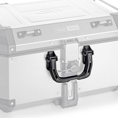 Givi - Universal handle for cases in aluminium. Compatible with: OBKN58 Trekker Outback, OBKN42 Trekker Outback, DLM46 Trekker Dolomiti, DLM30 Trekker Dolomiti