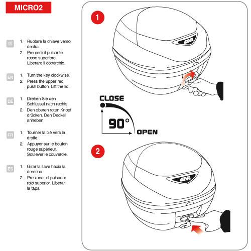 Givi - Bauletti Moto con Aggancio MONOLOCK® - E300N2