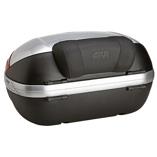 Givi - Specific backrest covered with black synthetic leather with GIVI logo.