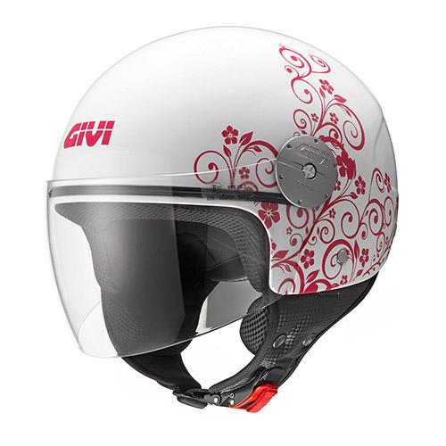 Givi - Caschi Demi Jet per moto e scooter - 10.7 MINI-J-ART NOUVEAU LADY