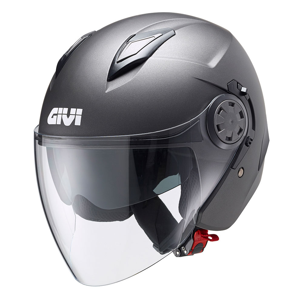 Givi - Cascos jet - 12.3 STRATOS - SOLID COLOUR