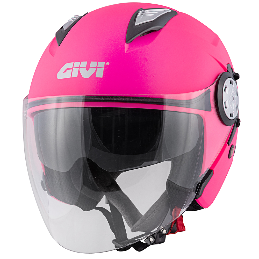 Givi - Caschi Jet per moto e scooter - 12.3 STRATOS SOLID COLOR LADY