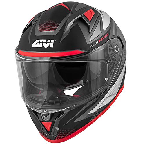 Givi - FWTR matt titanium / silber / rot