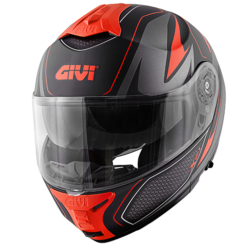 Givi - SHBR matt schwarz / titanium / rot