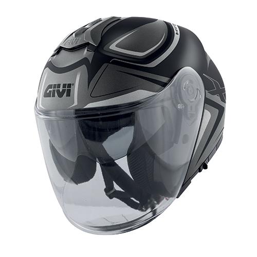 Givi - HYBL matt schwarz / titanium / silber
