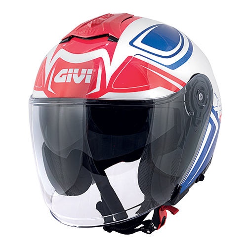 Givi - HYBW White / blue / red