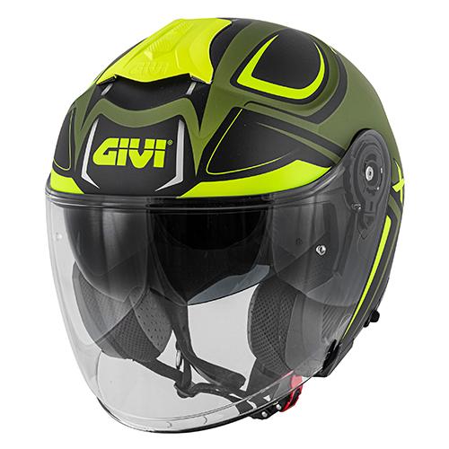 Givi - HYMG Nero opaco / verde militare / giallo