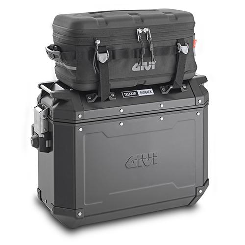 valigie laterali Monokey Cam-Side TREKKER OUTBACK 37 BLACK LINE
