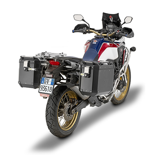 Givi - Valigie laterali per moto fuoristrada MONOKEY® CAM-SIDE - TREKKER OUTBACK 48 BLACK LINE