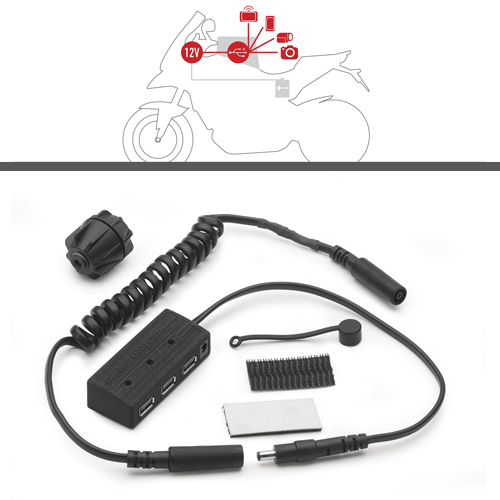 Givi - Hub kit for the electrical feed for tank bags.
