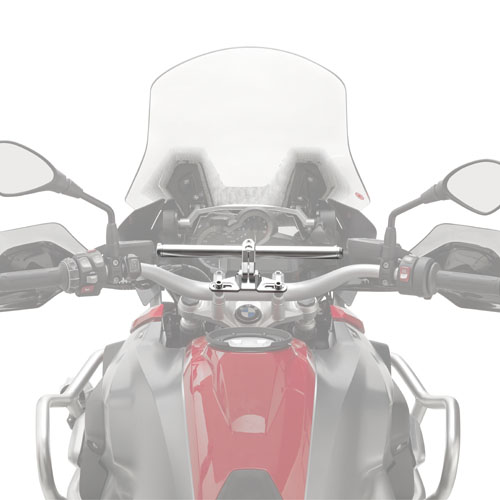 Givi - Universal aluminium handle bar to install GPS holders, Smartphone holders, electronic device holders for road use.