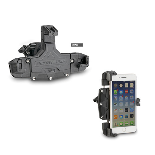 Givi - Soportes para dispositivos moviles y kit de alimentación - S920L Smart Clip