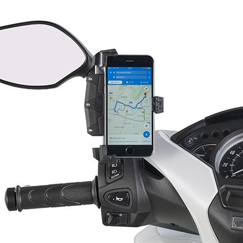 Givi - Soportes para dispositivos moviles y kit de alimentación - S920M Smart Clip