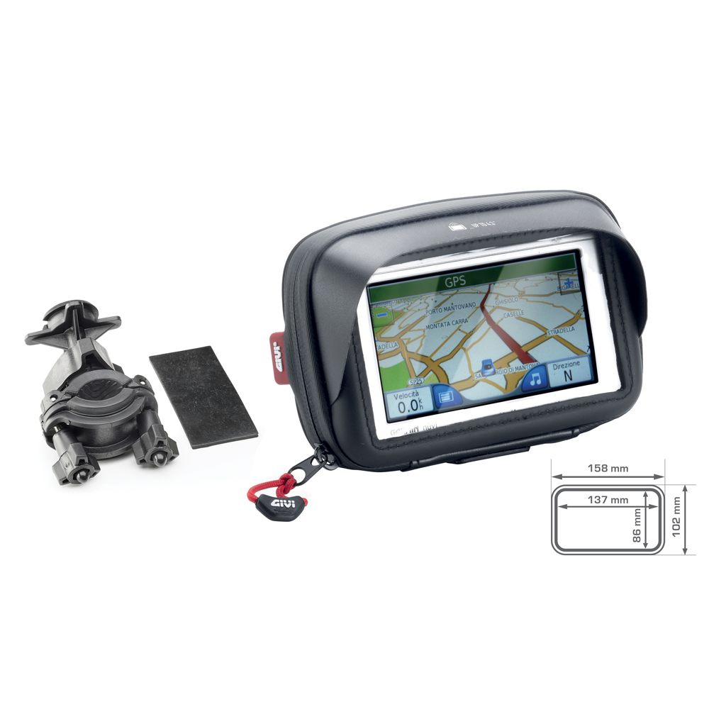 Givi - Universal GPS-Smartphone holder. Compatible with scooter, bike and Bicycle.