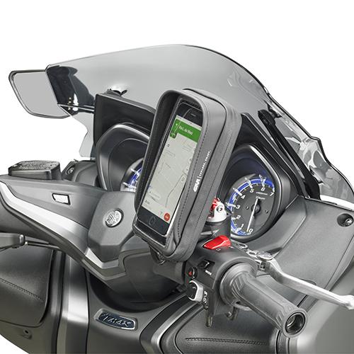 Givi - Soportes para dispositivos moviles y kit de alimentación - S958B