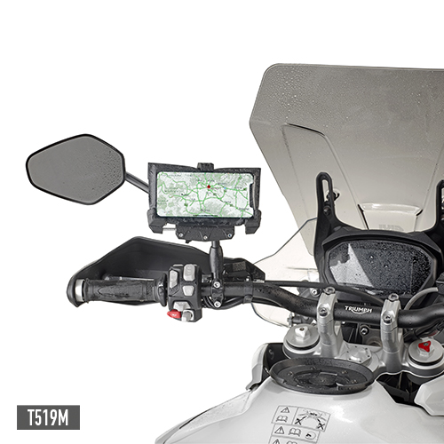 Givi - Soportes para dispositivos moviles y kit de alimentación - T519