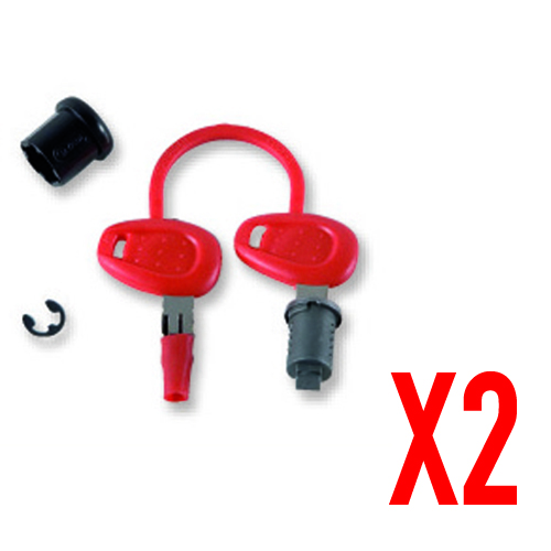 Givi -  - KEY LOCKS STANDARD – RED<br />(Compatible with all the models of cases, except those equipped with Security Lock key)
