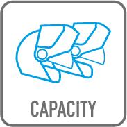 Capacité 2 casques modulables