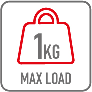 Charge maximale 1kg