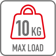 Charge maximale 10kg