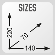 Dimensions 14 x 22 x 7