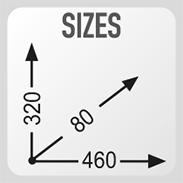 Dimensions 46 x 32 x 8
