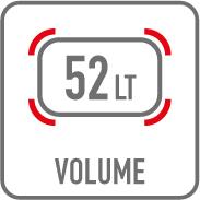 Volume 52 litres